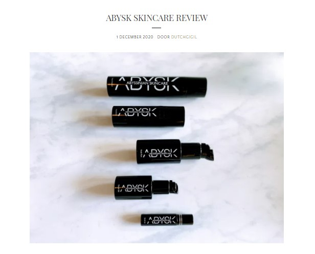 Dutchgigil – Skincare review